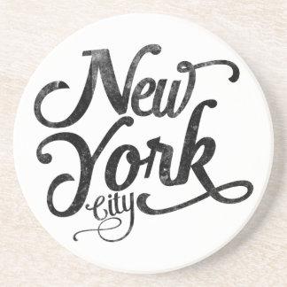 Dessous De Verre En Grès Typographie de cru de New York City