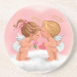 Dessous De Verre En Grès Un amour d'anges -