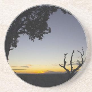 Dessous De Verre En Grès Un coucher du soleil de canyon grand