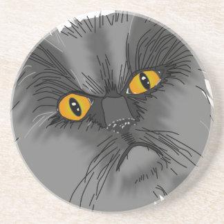 Dessous De Verre En Grès Un vecteur grincheux de chat
