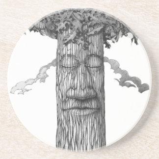 Dessous De Verre En Grès Un &W puissant de couverture d'arbre