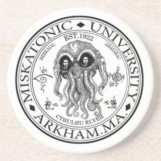 Dessous De Verre En Grès Université CTHULHU HP LOVECRAFT de Miskatonic