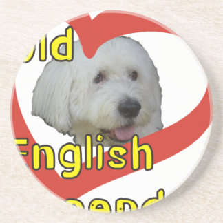 Dessous De Verre En Grès Vieux chien de berger anglais