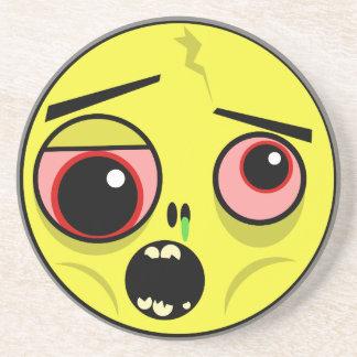 Dessous De Verre En Grès Visage de zombi