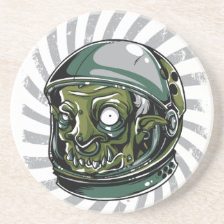 Dessous De Verre En Grès visage effrayant de zombi vintage