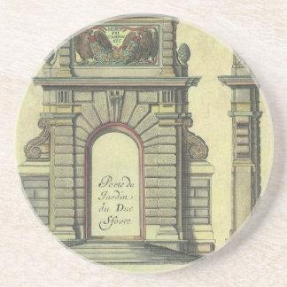 Dessous De Verre En Grès Voûte vintage de porte de jardin, architecture de