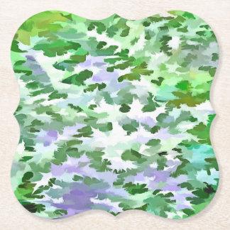 Dessous-de-verre En Papier Abrégé sur feuillage dans vert et le mauve