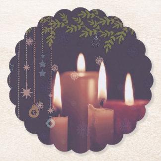 Dessous-de-verre En Papier bougies de Noël