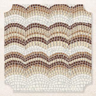 Dessous-de-verre En Papier Dessous de verre beiges de billet de mosaïque