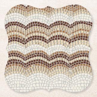 Dessous-de-verre En Papier Dessous de verre beiges de parenthèse de mosaïque