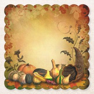 Dessous-de-verre En Papier Dessous de verre crantés par thanksgiving de