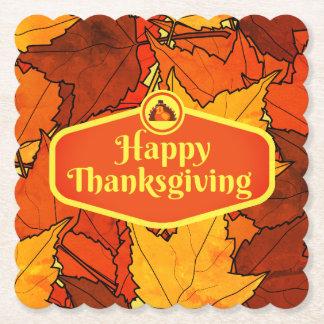 Dessous-de-verre En Papier Dessous de verre de thanksgiving
