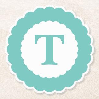 Dessous-de-verre En Papier Personnalisez : Festons turquoises minimalistes
