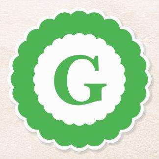 Dessous-de-verre En Papier Personnalisez : Festons verts minimalistes