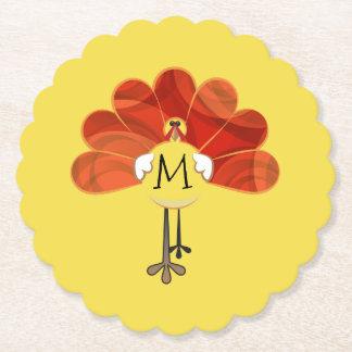 Dessous-de-verre En Papier Thanksgiving Turquie de famille décorée d'un