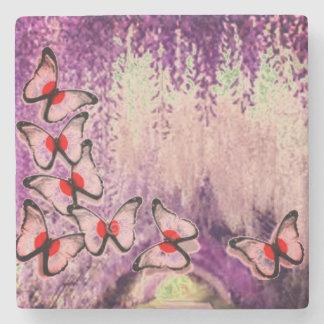 Dessous-de-verre En Pierre Arbre pleurant pourpre de papillon