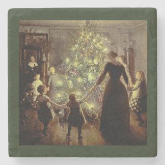 Dessous-de-verre En Pierre Autour de l'arbre de Noël