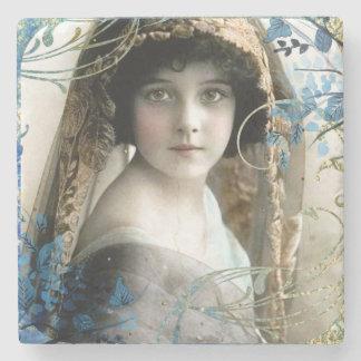 Dessous-de-verre En Pierre Belle illustration victorienne de cru de fille