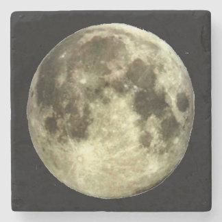 Dessous-de-verre En Pierre Caboteur de pierre de marbre de pleine lune