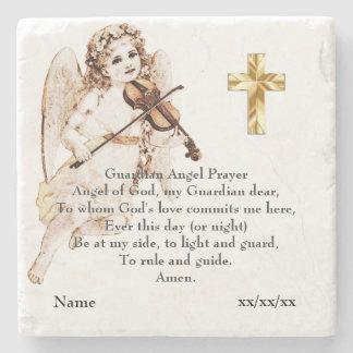 Dessous-de-verre En Pierre Cadeau catholique de prière d'ange gardien