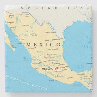 Dessous-de-verre En Pierre Carte politique du Mexique