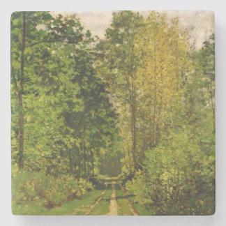 Dessous-de-verre En Pierre Chemin boisé de Claude Monet  