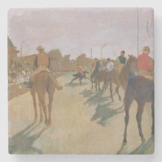 Dessous-de-verre En Pierre Chevaux de course d'Edgar Degas | devant les