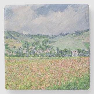 Dessous-de-verre En Pierre Claude Monet   le champ de pavot près de Giverny,