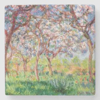 Dessous-de-verre En Pierre Claude Monet   Printemps un Giverny