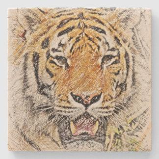 Dessous-de-verre En Pierre Croquis sauvage de tigre