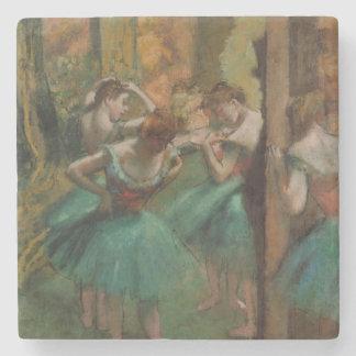 Dessous-de-verre En Pierre Danseurs d'Edgar Degas roses et dessous de verre