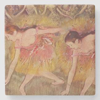Dessous-de-verre En Pierre Danseurs d'Edgar Degas se pliant en bas des