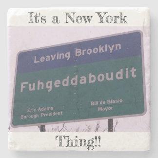 Dessous-de-verre En Pierre Départ de Brooklyn New York Fuhgeddaboudit