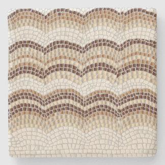 Dessous-de-verre En Pierre Dessous de verre beiges de chaux de mosaïque