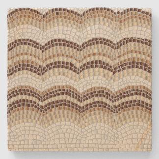 Dessous-de-verre En Pierre Dessous de verre beiges de grès de mosaïque