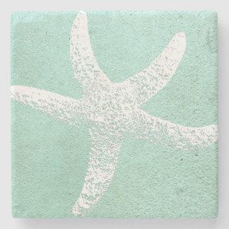 Dessous-de-verre En Pierre Dessous de verre bleus et blancs d'étoiles de mer