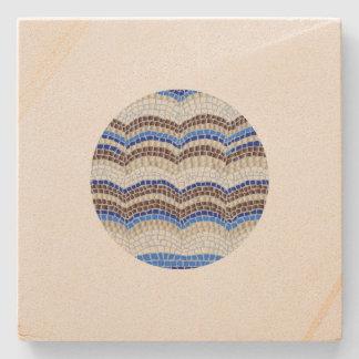 Dessous-de-verre En Pierre Dessous de verre bleus ronds de grès de mosaïque