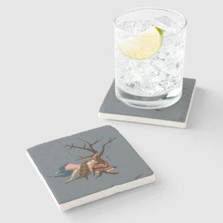 """Dessous-de-verre En Pierre Dessous de verre """"d'arbre de Noël quelque peu"""
