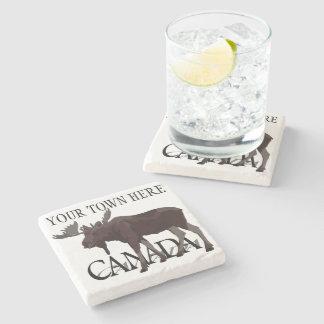 Dessous-de-verre En Pierre Dessous de verre de boissons du Canada d'art