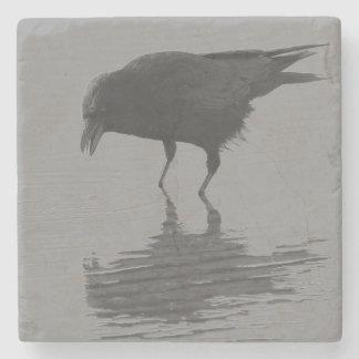Dessous-de-verre En Pierre Dessous de verre de corneille d'Edgar Allan