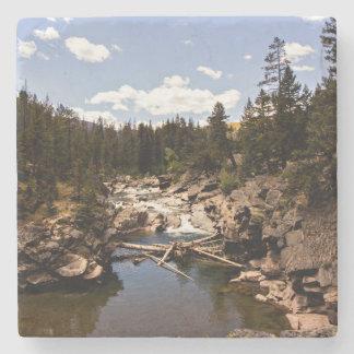 Dessous-de-verre En Pierre Dessous de verre de rivière de montagne du Montana