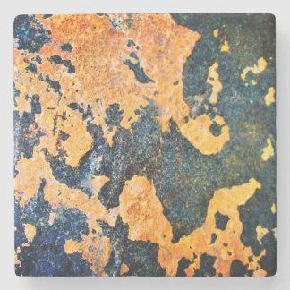 Dessous-de-verre En Pierre Dessous de verre de roche jaune et bleue
