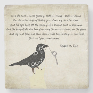 Dessous-de-verre En Pierre Dessous de verre en pierre d'Edgar Allen Poe