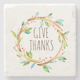 Dessous-de-verre En Pierre Donnez la guirlande de thanksgiving de mercis