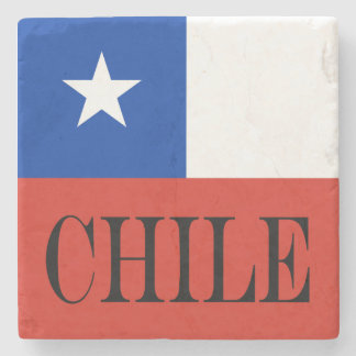 Dessous-de-verre En Pierre Drapeau du Chili