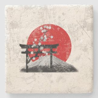 Dessous-de-verre En Pierre Drapeau et symboles du Japon ID153