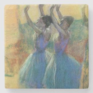 Dessous-de-verre En Pierre Edgar Degas | deux danseurs bleus