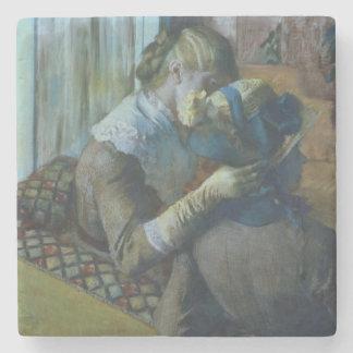 Dessous-de-verre En Pierre Edgar Degas   deux femmes
