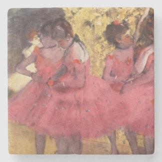 Dessous-de-verre En Pierre Edgar Degas les dessous de verre roses de danseurs