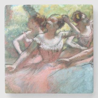 Dessous-de-verre En Pierre Edgar Degas | quatre ballerines sur l'étape